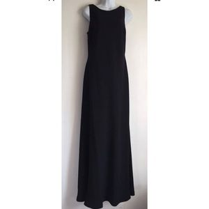 Karl Lagerfield Paris Black Trumpet Gown Dress